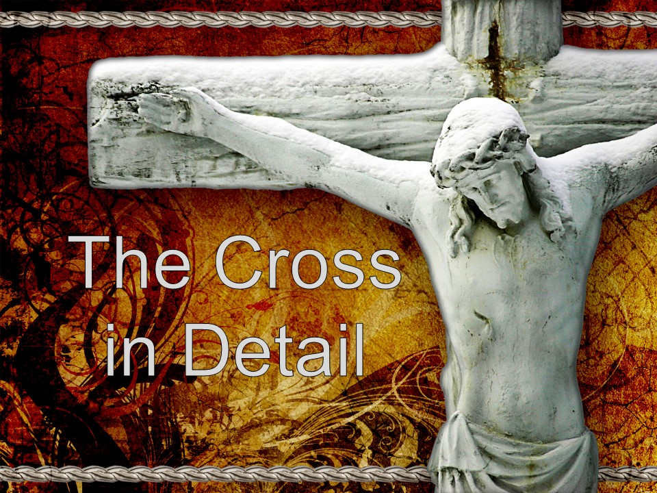 The Cross in Detail     Week One  Luke 18:31-33