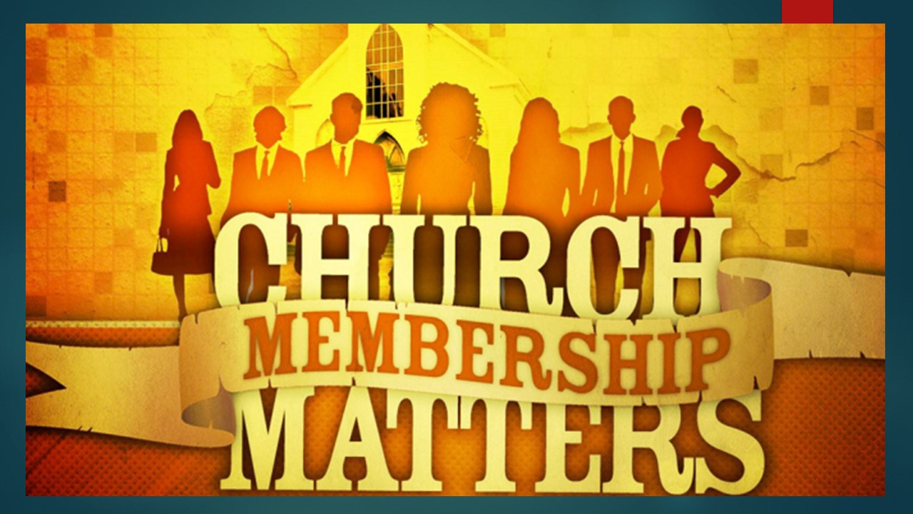 Church Membership : Personal Responsibility of Discipleship         Luke 9:23-27
