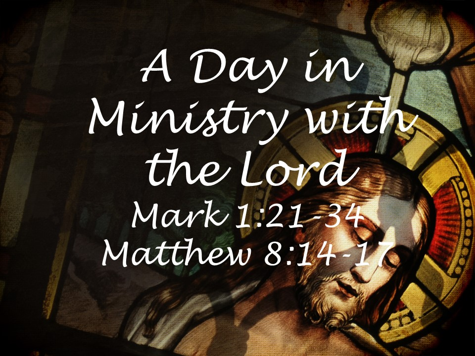 A Day in Ministry with the Lord